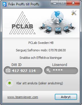 Fjärrsupport PCLAB