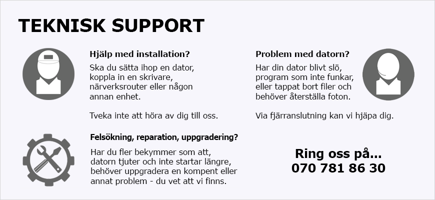 PCLAB Teknisk support